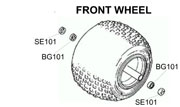 BK1203 Honda ATC 110/125M/185/200/250 Front Wheel Kit