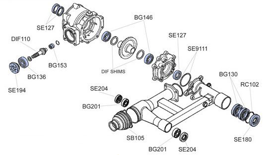 Honda Recon Rear Axle Diagram