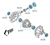 BK2402 Yamaha Front Differential Kit