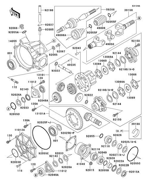 kawasaki mule parts diagram Kawasaki Mule 3010 Parts Catalog