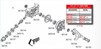 BK1408 Honda Rear Diff Kit