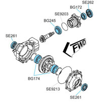 BK2351 Yamaha Front Differential Kit