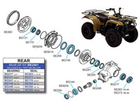 BK2401 Yamaha Rear Differential Kit