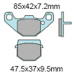XBR802X Polaris Front Brake Shoes