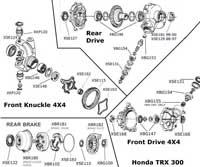 ATV Bearings, Seals, Gears, Differentail, Diagram