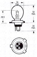 XHL105 Standard Headlight Bulb