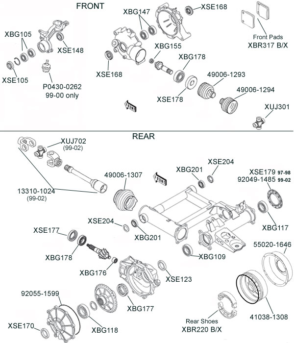 kawasaki klf300 klf400 bayou parts diagram kawasaki kvf prairie parts diagram