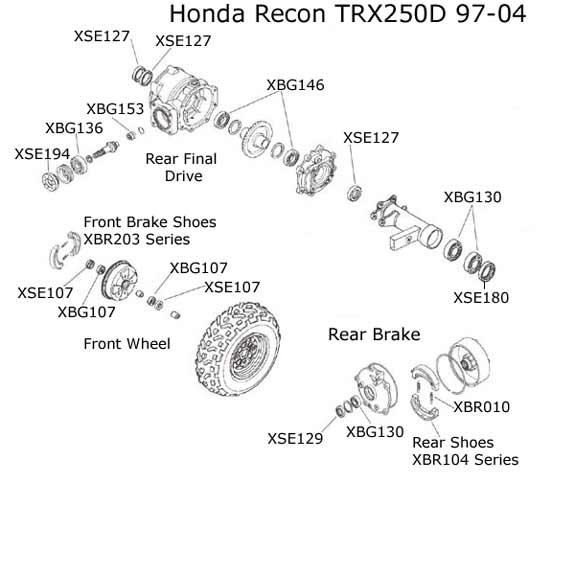 honda trx400 450 parts diagram bearings seals rh atvworks com honda atv oem parts catalog honda atv parts diagram canada