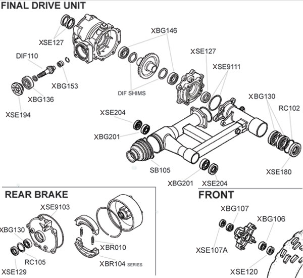 Honda Trx250ex Parts Diagram Rh Atvworks Com 2005 Honda Recon 250 Rear Axle  Diagram 2002 Honda