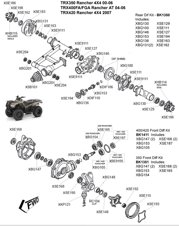 honda 420 rancher engine diagram  u2022 wiring diagram for free