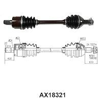 AX0111H Honda TRX420 Rancher Complete Rear Left Axle