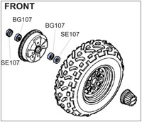 BK1405 Front Wheel Kit