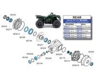 Yamaha YFM450FA KODIAK 4x4 Front Wheel Bearings 03-09
