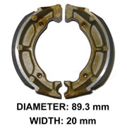 XBR109B Suzuki Rear Brake Shoes