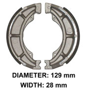 Rear Brake Shoes for Kawasaki