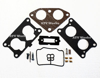 Kawasaki Mule 3010 Carburetor Rebuild Kit with In-take Gasket